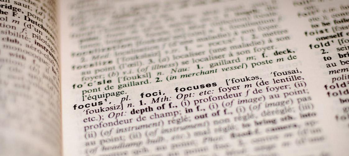Detalle diccionario palabra focus